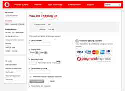 DPS Hosted Payments - Vodafone Example