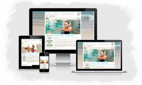 Responsive website designs for EscapeHaven